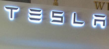 Display kiosk Signage by Signtech for Tesla